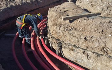 Tendido de cables subterráneos