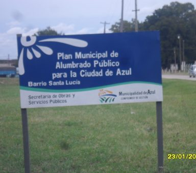 Iluminación municipalidad de Azul Prov. de Bs As